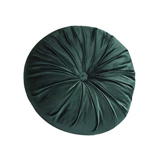 MSUIINT Dekoratives rundes Wurfkissen, niedliches plissiertes Kissen, Kürbis-Plüsch-Bodenkissen, Sitz-Bodenkissen, Heimdekoration für Couch, Sofa, Stuhl, Bett, Auto, Licht