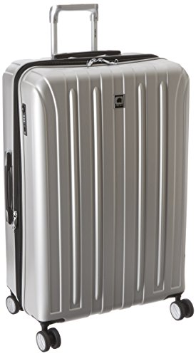 DELSEY Paris Titanium Hardside Expandable Luggage with Spinner Wheels, Silver, Checked-Large 29 Inch