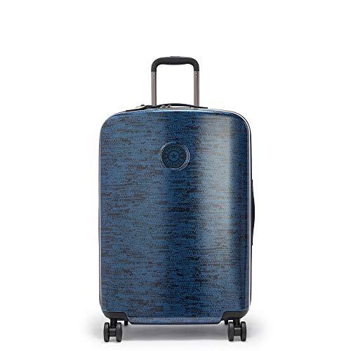 Kipling Curiosity Medium Printed 4 Wheeled Rolling Luggage Blue Eclipse Pr