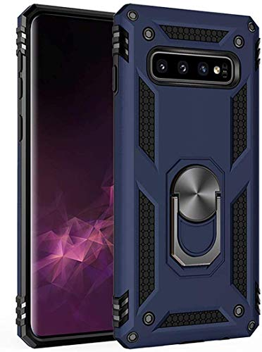 Amuoc Compatible with Samsung Galaxy S10 Plus Case 6.4 Inch (2019),Amuoc [ Military Grade ] 15ft. Drop Tested Protective Case [ Kickstand ] -Royal Blue