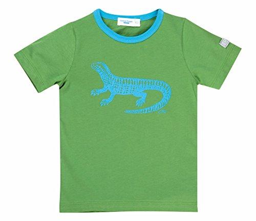 Claus GmbH Cotton People organic Baby - Jungen Hemd T-Shirt aus 100% Bio-Baumwolle J13B, Gr. 68 (4-6 m), Grün (grün, Applikation Echse)