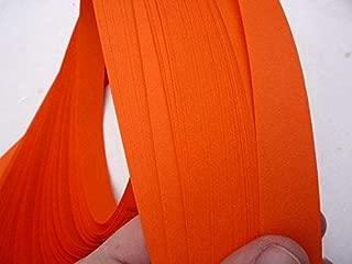Froebel Moravian Star Strip Weaving Papers, 52 Pack, Deep Orange (1 inch)