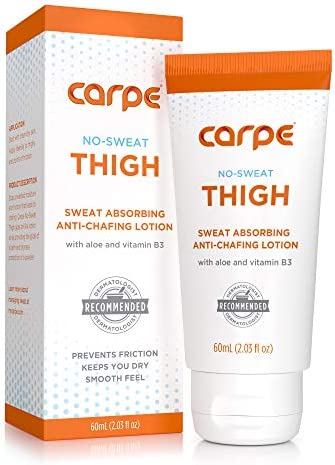 Carpe No Sweat Thigh Helps Keep Your Thighs Dry and Chafe Free Sweat Absorbing Lotion Helps product image