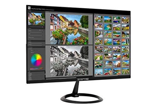 "Sceptre 25"" 165Hz 144Hz 1ms Gaming LED Monitor 2X HDMI 1x DP(DisplayPort), Metal Black 2019 (E258B-1658A)"