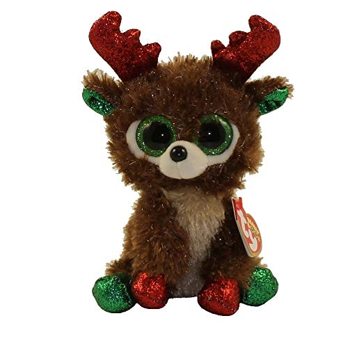 Ty Beanie Boos 6' Christmas Limited Edition Fudge, Perfect Plush!