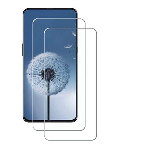 MSOSA Compatible con Protector de Pantalla Lenovo Z5 Pro, [2-Pack] [Anti-Burbujas] [9H Dureza] [Fácil Instalación] HD Cristal Templado para Lenovo Z5 Pro