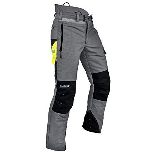 Pfanner Ventilation Schnittschutzhose Klasse 1 Gladiator Gewebe, Farbe:grau, Größe:M (kurzgr.)