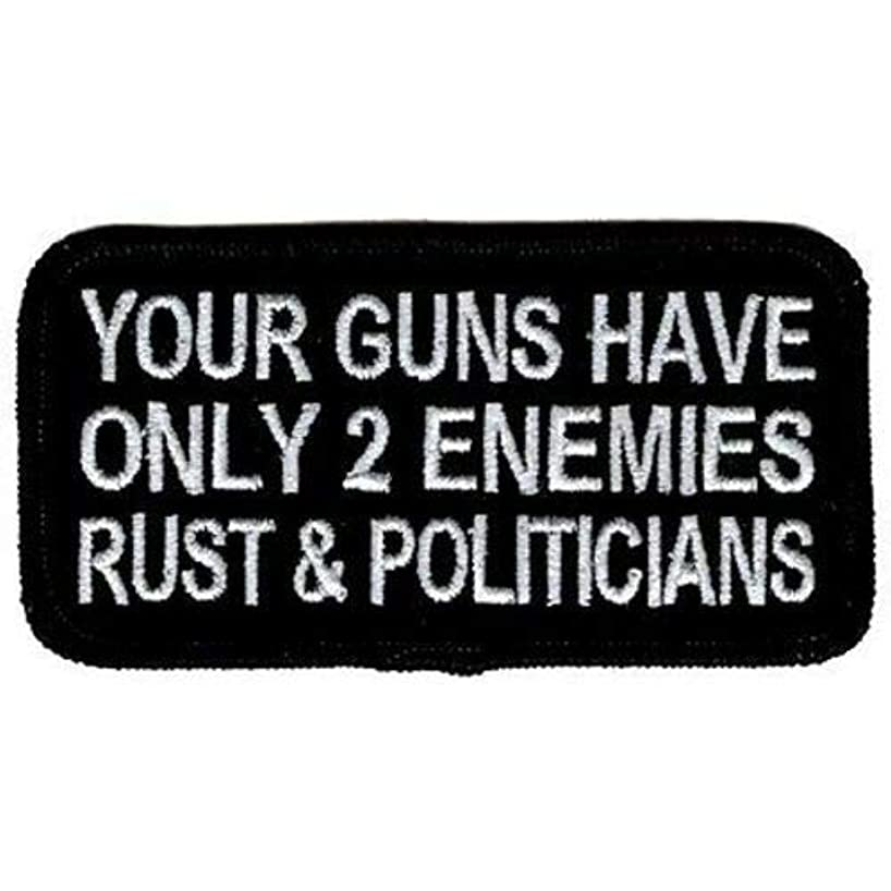 Guns have 2 Enemies Rust & Politicians NRA Embroidered NEW Biker Patch PAT-2282