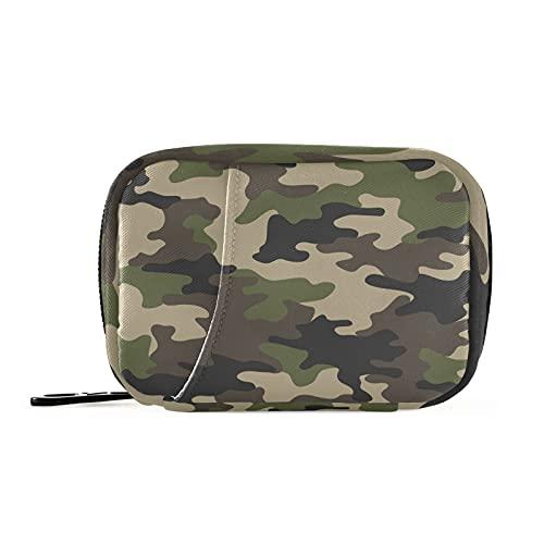 COZYhome Pastillero 7 Días Clásico Ejército Camuflaje Caso Am Pm 8 Compartimentos Individual Pastillero Bolsa Con Cremallera Medicina Case Organizador