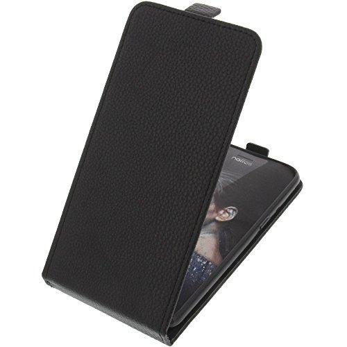 foto-kontor Tasche für TP-Link Neffos N1 Smartphone Flipstyle Schutz Hülle schwarz