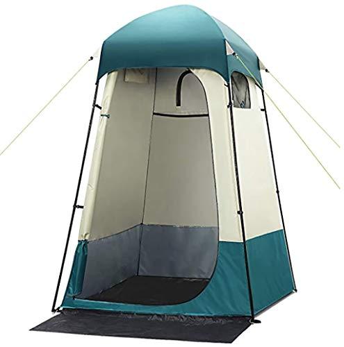 Carpa de ducha al aire libre Tienda de ducha de privacidad al aire libre grande, 7.5 pies Camping portátil Fácil de instalar de lujo Shelter Tienda Vendaje Cambio de vestuario con bolsa de transporte,