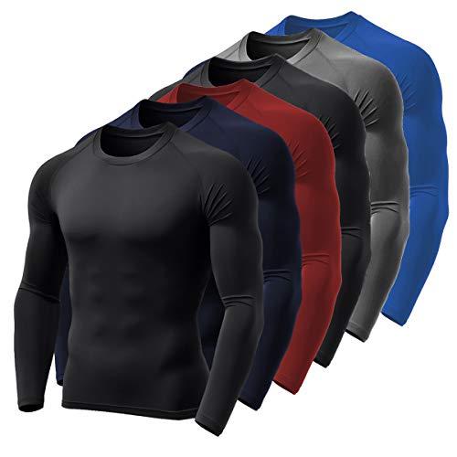 Kit 6 Camisa Térmica BOYOU Blusa Esquenta Proteção UV 50 Fps Compressão 037 (G)