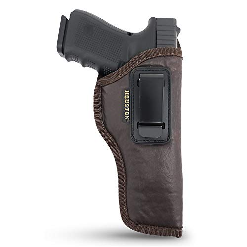 IWB Gun Holster by Houston - Brown ECO Leather Concealed...