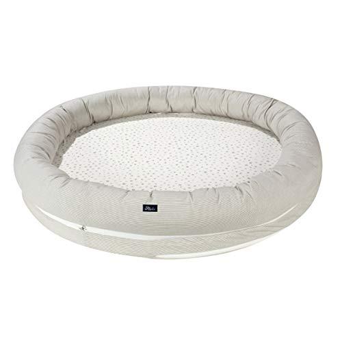 Alvi Schlummerestchen XL Aqua Dot 403960016 - Alfombra para parque infantil (100 cm de diámetro)