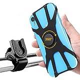 Gobesty Supporto Universale per Telefono da Bici, 360 ° ruotabile Porta Telefono Regolabile in Silicone per Moto Compatibile per Smartphone da 4 a 6,5 iPhone Samsung Nexus, Nokia ECC.