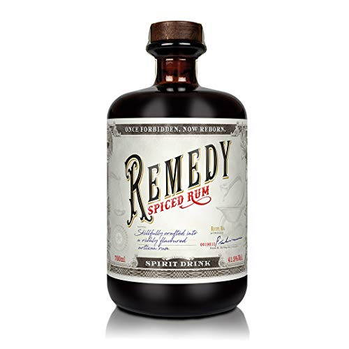 Remedy Rum Spiced Rum (1 x 0,7 l) - Gold Meinigers International Spirits Award 2019 - Feine Noten von u.a : Vanille, Orangenschalen