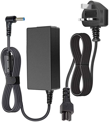 HP Charger for Laptop 45W, SunMac 19.5V 2.31A Laptop Power Adapter with Power Cord Supply Replacement for HP Elitebook Folio, Pavilion Touchsmart,Spectre Ultrabook, HP Stream 11 13 14Series(4.5mmX3mm)