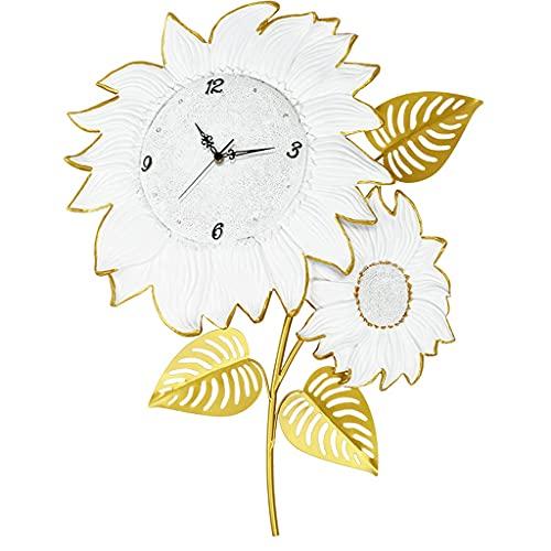 GZQDX Flor Silent 3D Reloj de Pared Sala de Estar Hogar Moda Reloj de Cuarzo Decoración Moderna para el hogar
