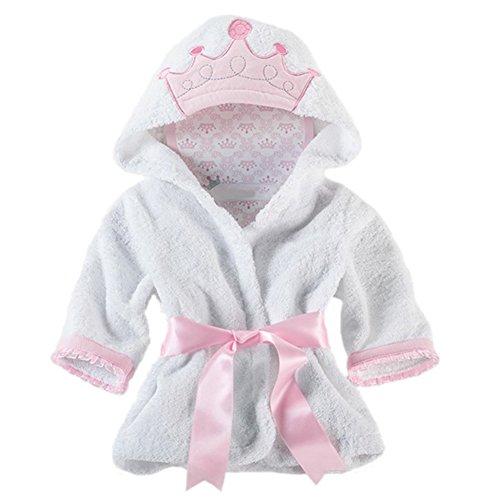 Kinder Baby Jungen/Mädchen Bademäntel, Baby Bademantel mit Kapuze, Tiermuster weiche mit Kapuze Bademäntel Baumwolltücher für Baby 0-6 Jahre