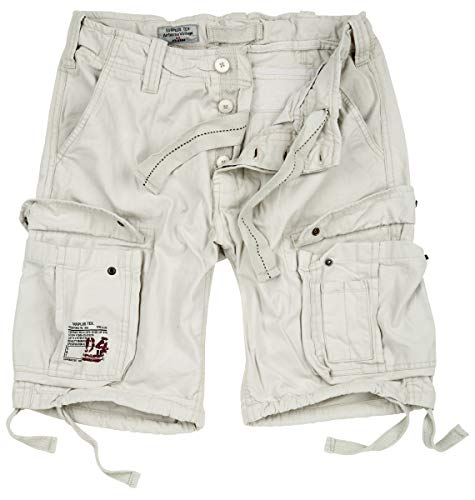Surplus Herren Airborne Vintage Shorts (L, Off-White)