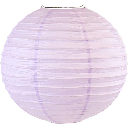 "Just Artifacts 16"" Lavender Purple Chinese/Japanese Paper Lantern/Lamp 16"" Diameter - Just Artifacts Brand"