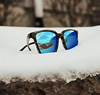 Drivyn Polarized Wood Sunglasses Cool Lightweight Shades with Mirrored Lenses