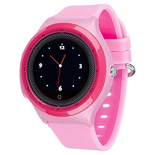 JBC Kinder GPS Uhr | Smart Watch | SOS Telefon | GPSTracker Ohne Abhörfunktion (Pink)