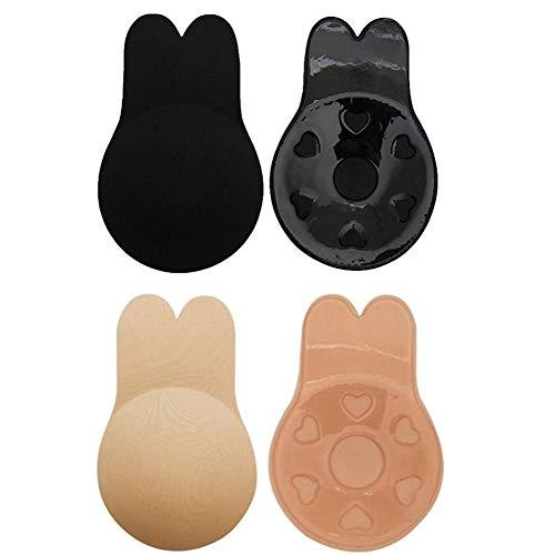 Smart Nice Sujetador sin Tirantes Invisible Adhesivo Espalda Silicona Adhesivo y Push up Reutilizable para Las Sujetadores(Regalo) para Vestidos sin Espalda