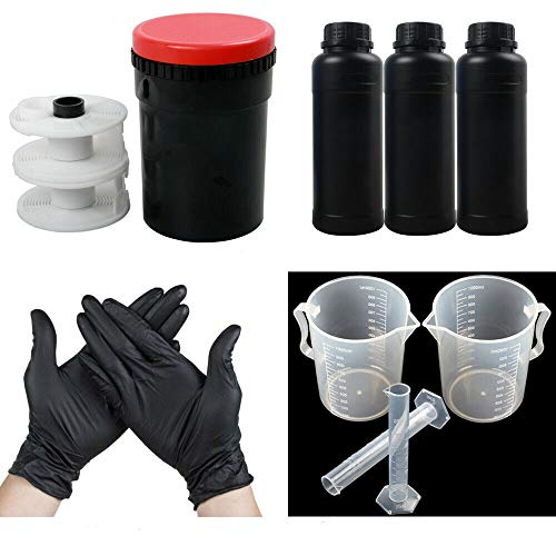 120 135 B&W Film Darkroom Kit Developing Equipment Processing Tool Developing Tank with Spiral Reel Chemical Bottle