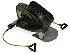 Adjustable tension to control workout intensity level; Use while seated or while standing; The foot pedals can be worked in a forward or reverse direction to target your lower body in different ways Convenient handle for easy portablility; Electronic...