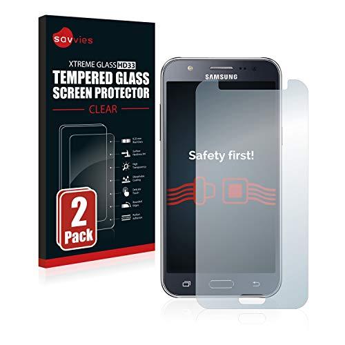 Savvies Panzerglas kompatibel mit Samsung Galaxy J5 2015 (2 Stück) - Echt-Glas, 9H Härte, Anti-Fingerprint