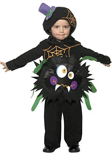 Smiffy'S 35650T2 Disfraz De Araña Loca Con Tabardo Y Capucha, Negro, Pequeño - Edad 3-4 Años, T2
