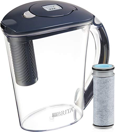 Brita Stream Rapids Water Filter Pitcher, Carbon, Large 10 Cup, 1 Count