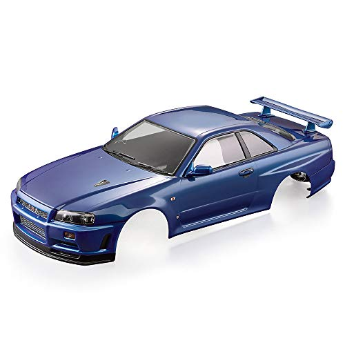 Goolsky Killerbody 48646 Nissan Skyline (R34) Finished Body Shell Frame for 1/10 Electric Touring RC Racing Car DIY (Blue)