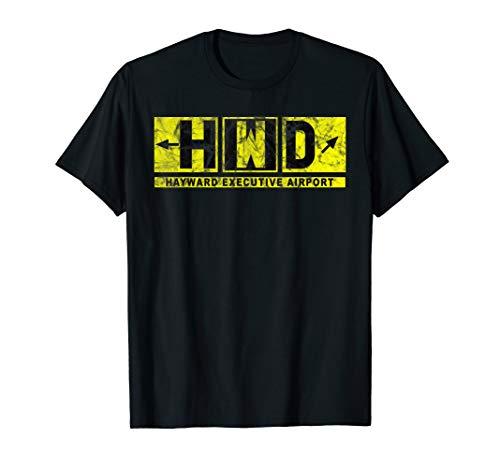 HWD Hayward Executive Airport Taxiway Sign Pilot Vintage T-Shirt