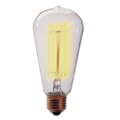 Bulbrite NOS40-1910-6PK 40W Nostalgic Edison Squirrel Cage-style Bulb, 6-Pack