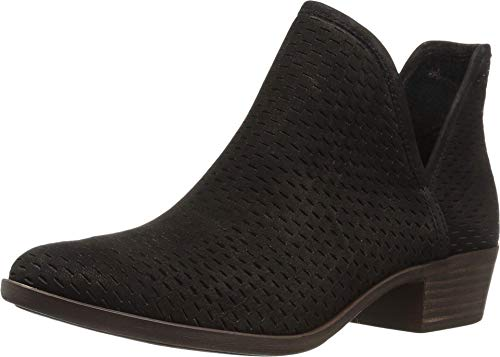 Lucky Brand womens Baley Ankle Boot, Black, 10 Wide US