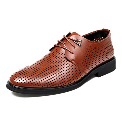 [Placck] 通気性 ビジネスシューズ 紳士靴 メッシュ 夏 通勤 オフィス レースアップシューズ 快適 軽量 防臭 カジュアル サンダル Zong43