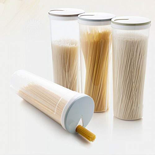 Alivier Contenedor de Alimentos de plástico Fideos de Cocina Caja de Almacenamiento de Pasta para Espaguetis Palillos multifunción Portacontenedores
