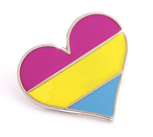 Pansexual pin pride LGBTQ gay heart flag an enamel pin for pan community