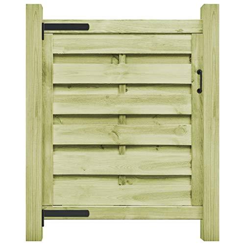 robustes Holztor aus Kiefernholz kesseldruckimpr/ägniert Aufh/ängung und Verschluss Gartentor aus Holz 90 cm Breit inkl