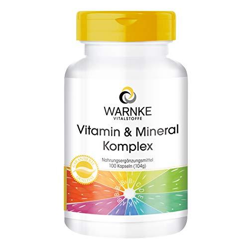 Vitamin A-Z - Multivitamin Kapseln mit 18 Vitaminen und Mineralstoffen - HOCHDOSIERT - 100 Kapseln