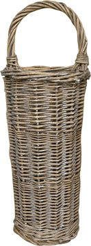 Woven Willow Long Basket Flat Back Country Primitive Wall Decor
