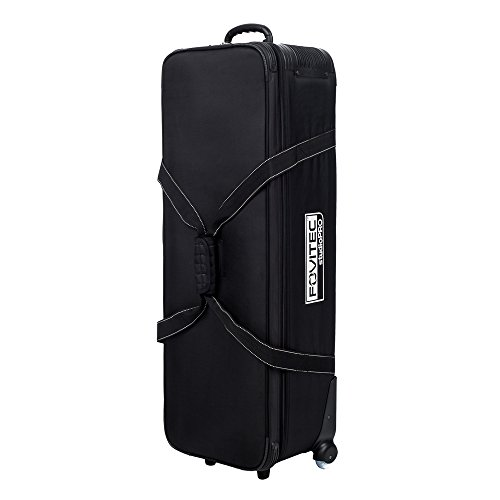"Fovitec - 1x Professional Photography & Video Lighting Equipment Roller Bag - [44"" x 14"" x 10""][EZ Glide Wheels][Durable Webbed Nylon][Fleece Lining]"
