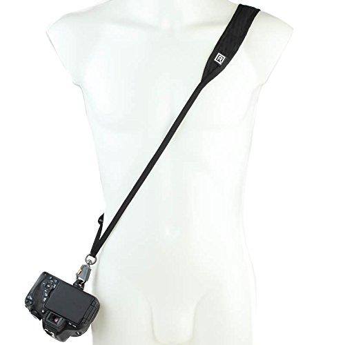 BlackRapid R-Strap Street Breathe Black - schlanker Sling-Kameragurt für kleine DSLRs und spiegellose Systemkameras
