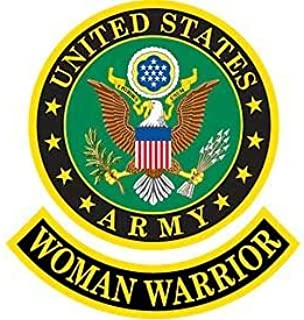 Original Famous Patches & Appliques United States Army, Woman Warrior - Embroidered Patches, Premium Quality Iron On Patch...