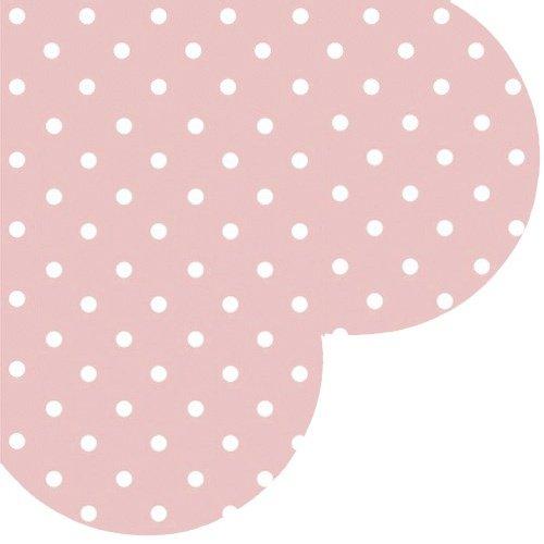 Confezione da 12tovaglioli di carta a forma di cuore 'Dots–rosa–3PLY–giorno di San Valentino