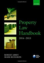 Property Law Handbook 2014-2015 (Blackstone Legal Practice Course Guide)