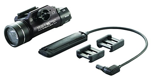 Streamlight High Lumen Rail Mounted Tactical Light, Black, Light Only w/Long Gun Kit