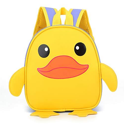 JPYH Kinderrucksäcke, niedliche kleine gelbe Ente Cartoon Schüler Tasche, Grundschultasche, Kindergartentasche,für Kleinkind Kinder Jungen Mädchen, Unisex
